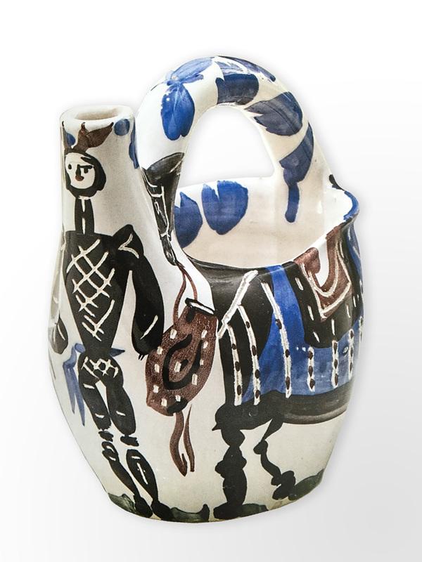 Pablo PICASSO - Céramique - Cavalier et cheval