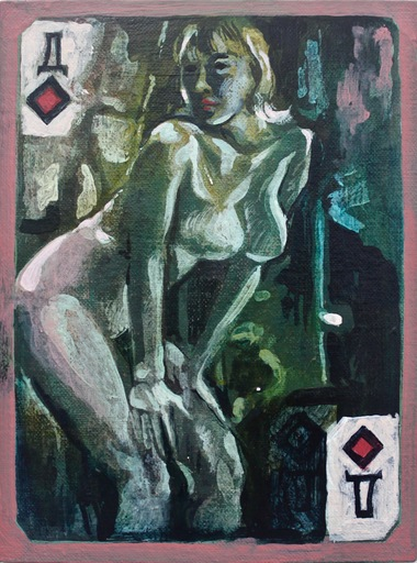 Damir MURATOV - Painting - Queen of Diamonds