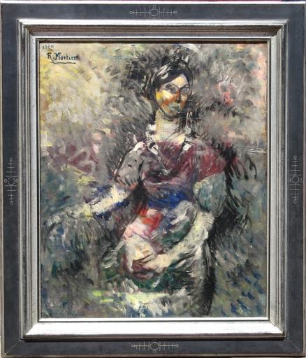 Robert MORTIER - Painting - FEMME POST-CUBISTE