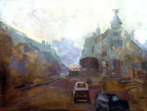 Jorge CASTILLO - Pintura - calle alcala