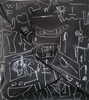 Cesare BERLINGERI - Peinture - nero segnato
