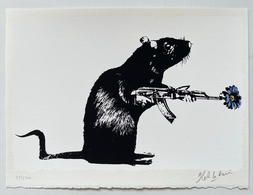 BLEK LE RAT - Grabado - The warrior - blue edition -