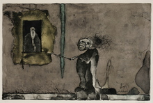 Paul WUNDERLICH - Estampe-Multiple - Le vieux monsieur