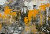 "Irina BOCHAROVA - Painting - abstract cityscape ""They don't sleep in one house"""