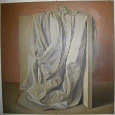 Sarandis KARAVOUSIS - Peinture - L'imperméable