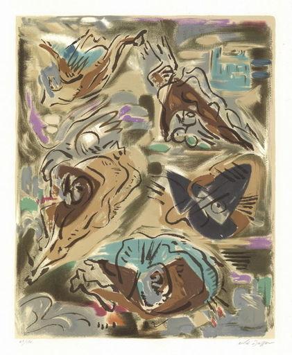 André MASSON - Print-Multiple - Composition