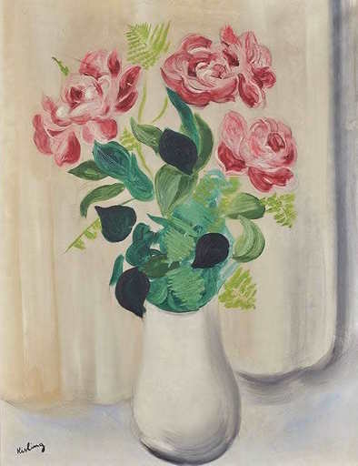 莫依斯·基斯林 - 绘画 - Bouquet de fleurs