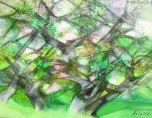 Camille HILAIRE - Pintura - Oliviers en fleurs