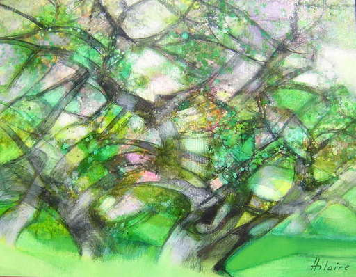 Camille HILAIRE - Pittura - Oliviers en fleurs
