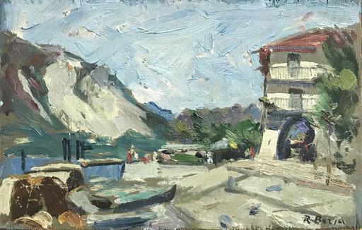 Roberto BORSA - Pittura - Isola Pescatori, Lago Maggiore