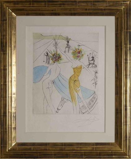 萨尔瓦多·达利 - 版画 - Les Femmes Fleurs au Piano