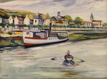 Élisée MACLET - Painting - Bords de la Marne