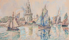 Paul SIGNAC - Drawing-Watercolor - La Rochelle