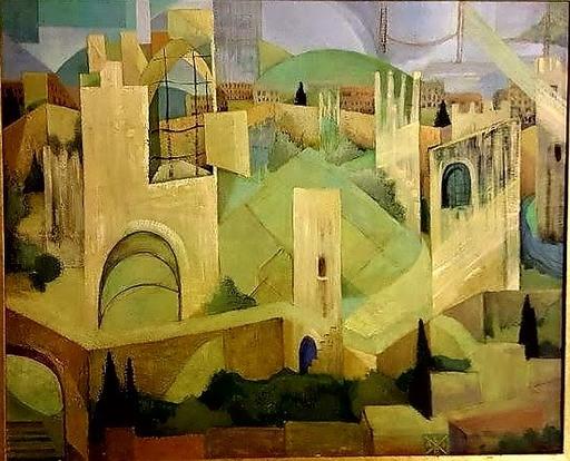 Alix BATCHELDER - Painting - LISBONNE  CHÂTEAU SAINT- GEORGES