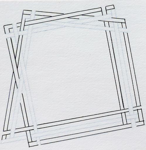 Ode BERTRAND - Drawing-Watercolor - Entrelacs V