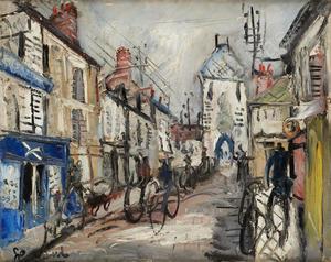 GEN PAUL - Peinture - Les vélos, Montmartre