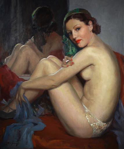 Guy DE JESSEY - Pintura - La danseuse de cabaret