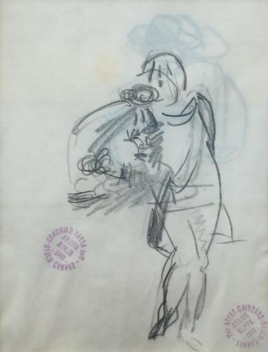 Ludwig KLIMEK - Disegno Acquarello