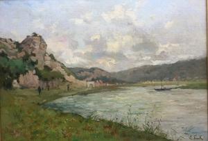 Lucien FRANK - Peinture - ENVIRONS DE NAMUR