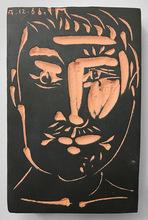 Pablo PICASSO - Céramique - Portrait d'homme