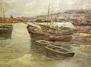 Ezelino BRIANTE - Painting - PORT DE NAPLES