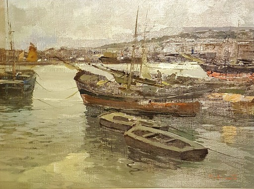Ezelino BRIANTE - Pittura - PORT DE NAPLES