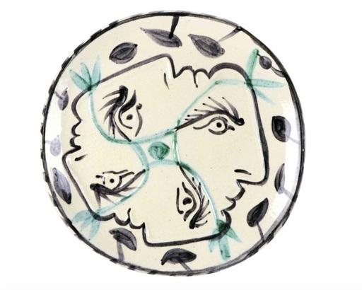Pablo PICASSO - Keramiken - Quatre profils enlacés