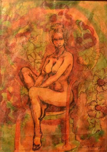 Evgeniy Andreevich AGAFONOV - Drawing-Watercolor - Nude