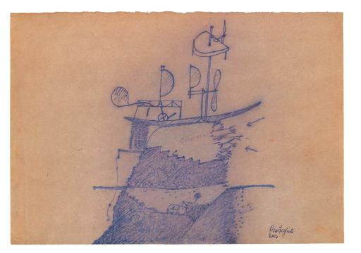 Piero FOGLIATI - Zeichnung Aquarell - Suono