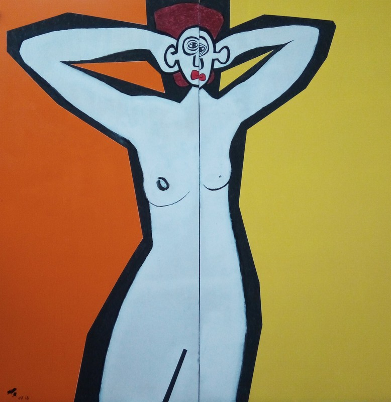 Harry BARTLETT FENNEY - Pittura - yellow background