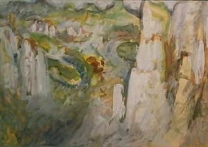 Bernard MICHEL - Peinture - Sächsische Schweiz