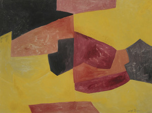 Serge POLIAKOFF - Dessin-Aquarelle - Composition abstraite
