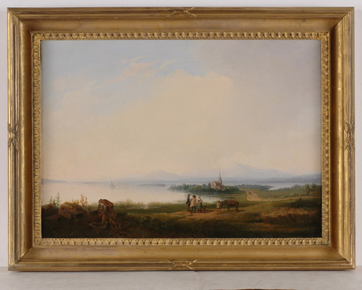 "Gustaf Wilhelm PALM - Pintura - ""Siljansee in Sweden"", 1841, Oil"