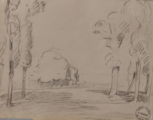 Henri Baptiste LEBASQUE - Dibujo Acuarela - Paysage