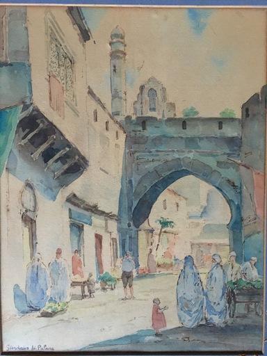 Léon Jean GIORDANO DI PALMA - Drawing-Watercolor