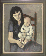 Hubertus Johannes MENGELS - Peinture - Mother & Son