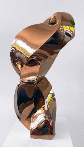 Stephan MARIENFELD - Sculpture-Volume - Twist Bronze poliert