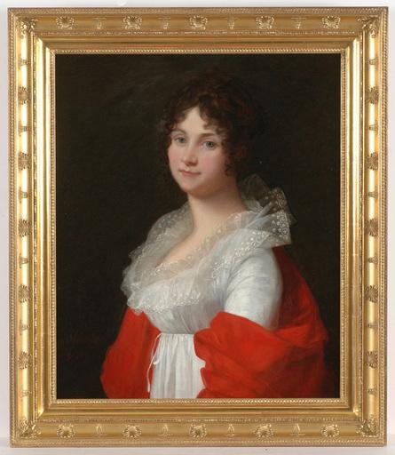"""Jean Laurent MOSNIER - Painting - Jean Laurent Mosnier (1743-1808) """"Portrait of a lady"""""""
