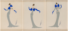 ERTÉ - Peinture - Set of three Costume Designs