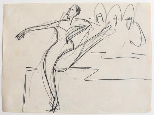 Ernst Ludwig KIRCHNER - Disegno Acquarello - Dancer | Tänzerin