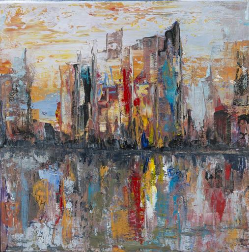 Danielle MAILLET-VILA - Painting - Reflet urbain