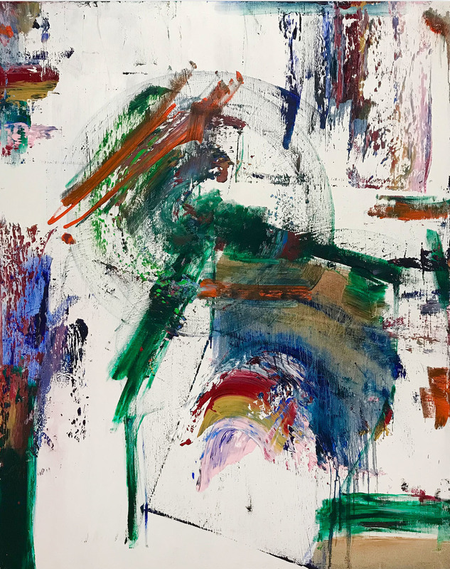 Tommaso FATTOVICH - Painting - Primavera A Roma (Abstract painting)