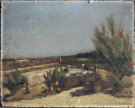 Amédée BESNUS - Painting - LES LAVANDIERES