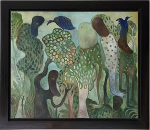 Manuel MENDIVE - Pintura - La Foresta Magica