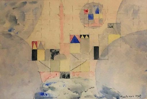 Francis MONTANIER - Drawing-Watercolor - Composition