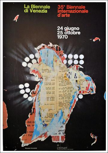 Raymond HAINS - Print-Multiple - La Biennale déchirée 1970