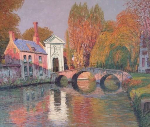 Manuel DE GRACIA - Painting - Últimas luces (Brujas, Bélgica)