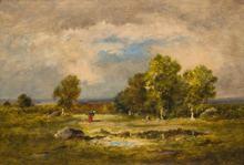 Narcisse Virgile DIAZ DE LA PEÑA - Painting - Clairiere et Mare aux Viperes, Foret de Fontainebleau