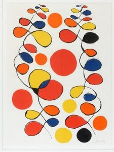 Alexander CALDER - Grabado - Composition with Spirals and Circles