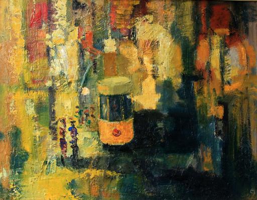 Levan URUSHADZE - Painting - Sunny tram
